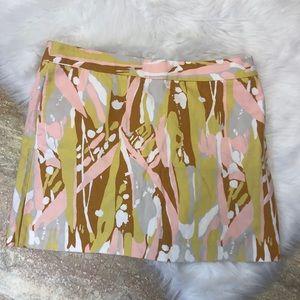 J. CREW limoncello print mini skirt 10